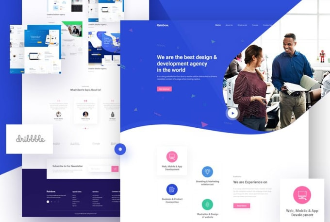 create website ui ux design and landing page design for you